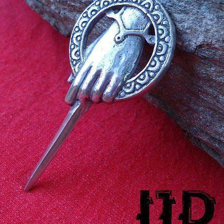 thrones got hand stark brooch lannister tyrion lanister tywin pin medieval jewelry king game the