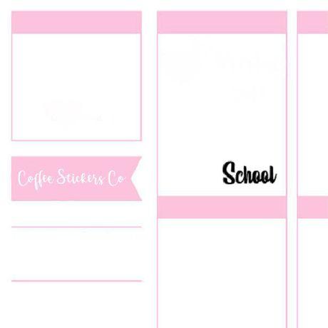 school erin condren planner stickers