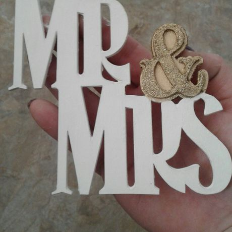 and mrs sign hand painted wedding decorations small table decor sweetheart signs