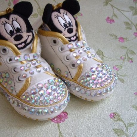 mickeymouse studs children sneakers