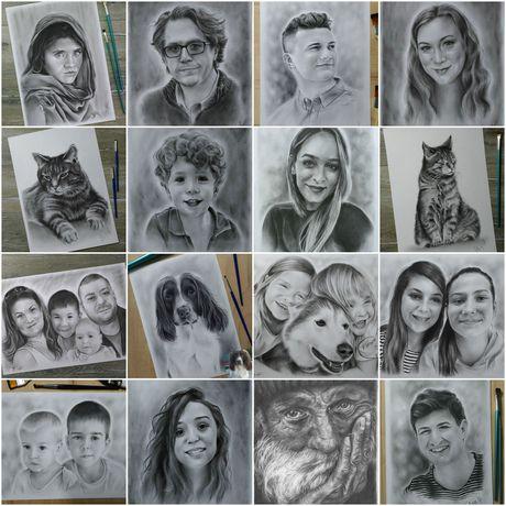 customportrait phototodrawing oilonpaper drybrush portrait drawing christmasgift present gift birthdaygift