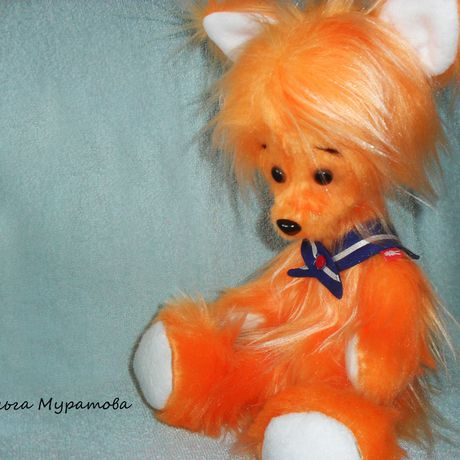 bear kids toy orange fox