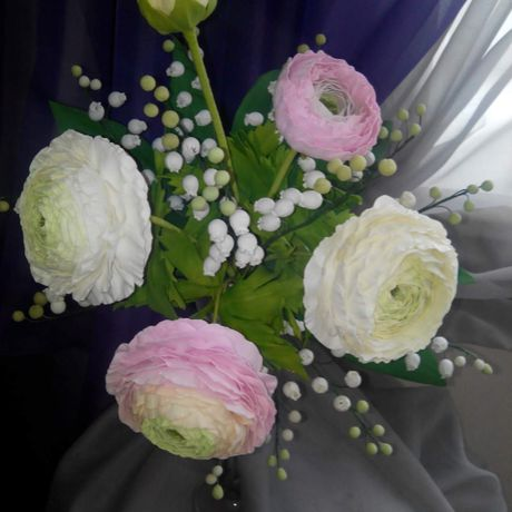 artificial flowers present handmade