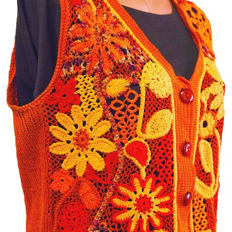 clothes knitting red waistcoat