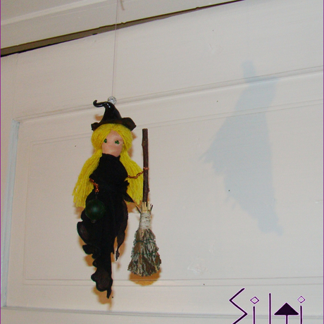 hanger upcycled hanging moon cute magic black witchdecor farmhouse mobile rustic witch magical decor halloween