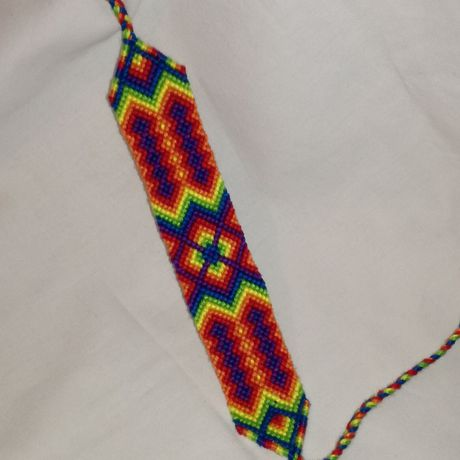 knitted wrist diamond woman for bracelet pattern gift band man art string tribal braided