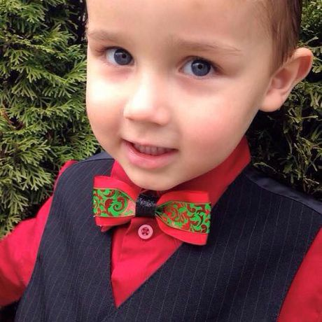 boys holiday tie christmas for bow