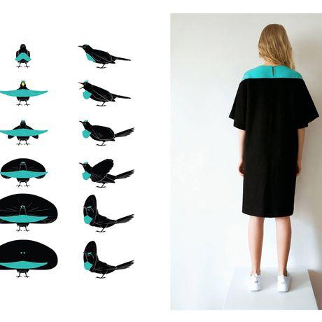 handmade blue black dress clothes