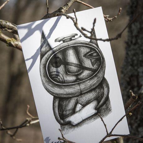 postcard gift handmade kraft sailor sea