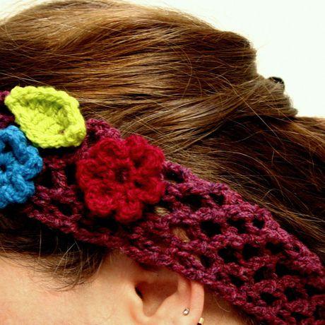 vintage boho hair cotton hippie bohemian crochet accessory headband