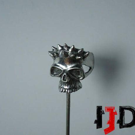 pagan star gothic dark satanic vampire ring wars biker horned demon jewelry tribal skull