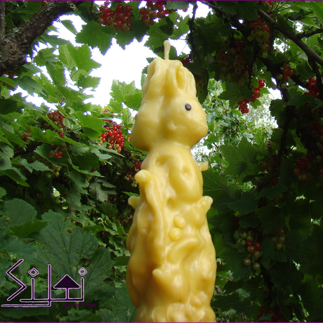 hare beeswax sculpted rabbitcandle harecandle unusual handsculpted eastercandle rabbit forest forestcandle bunny beeswaxcandle unusualcandle easter