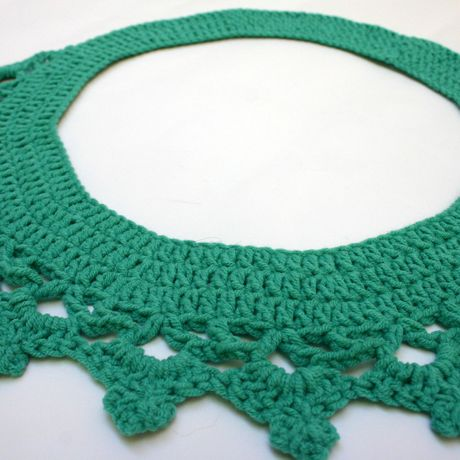 vintage handmade collar boho cotton necklace jewelry crochet accessory