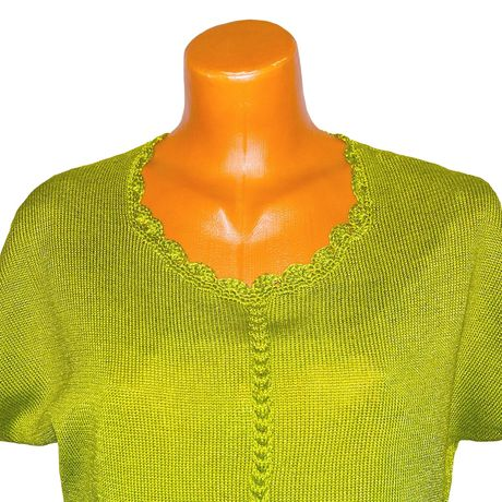 cotton top yarn clothes green