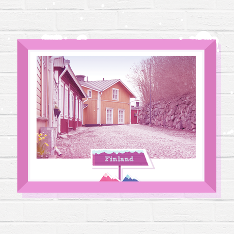 wall finland poster print gift photography art travel