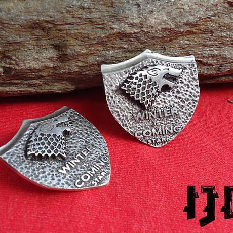 vintage house thrones emblem sigil winterfell merchandise got stark brooch pin jewelry game