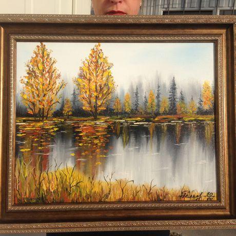 painting autumn picture art interior