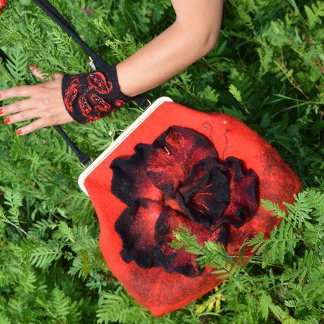 flowers milled casual evening handbag