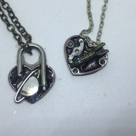 necklaces and ship rocket moon locket love you padlock matching planet necklace back heart the