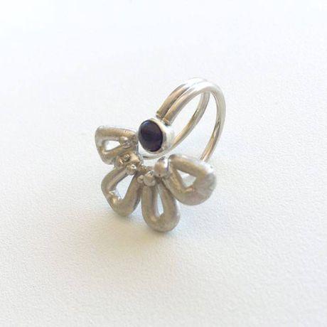 gift jewelry amethystring flowerring sterlingring