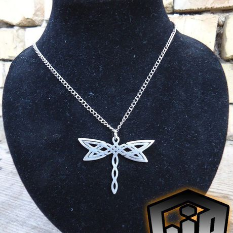 pendant charm necklace jewelry insect dragonfly celtic