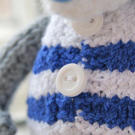 toy bear gift children knit interiortoy teddy warm sailor sea