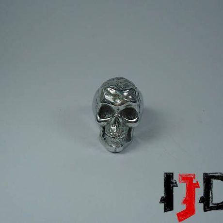 gothic vampire ring biker black alternative death jewelry metal skull