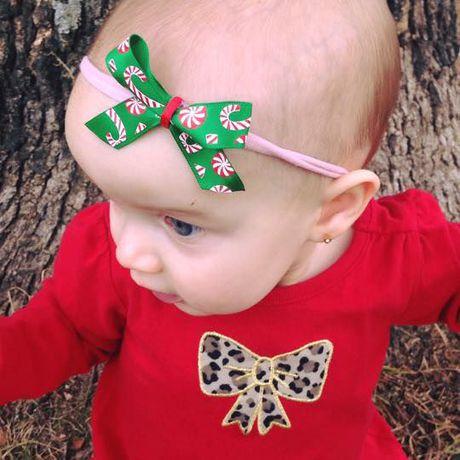 cane nylon headbands christmas bows candy bow headband
