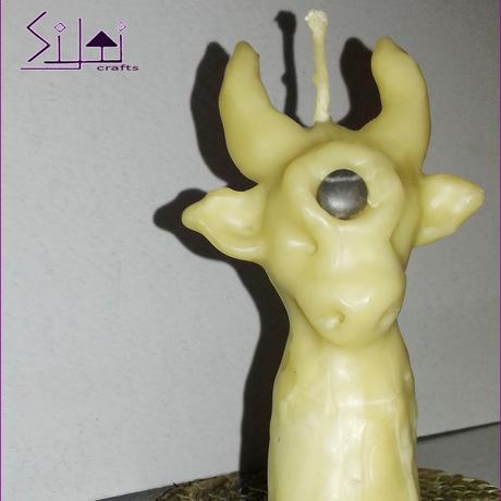 cow beeswax sculpted taurus cowcandle horned hornhead spiritanimal bull wishingstone symbolic symbolicgift witchcandle handsculpted witchy