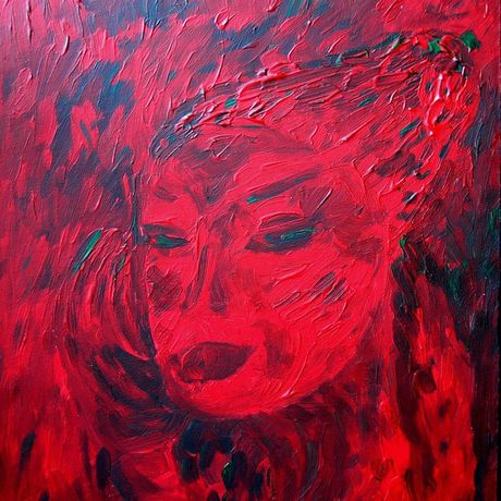 gift painting art red interior