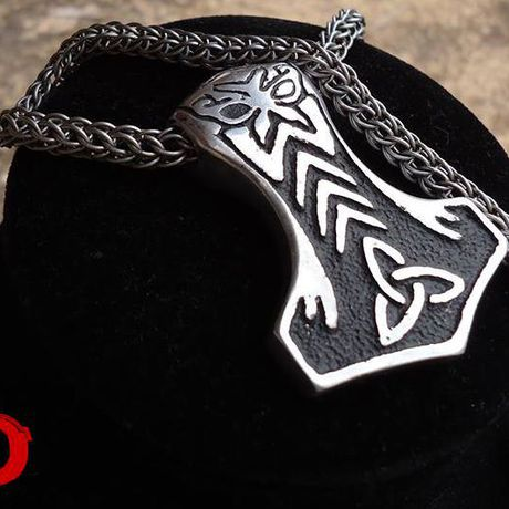 pagan pendant silver viking thor hammer odin gifts man necklace jewelry celtic