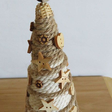 holiday christmas tree cone rustic top table decor