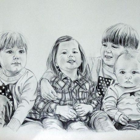 customdrawing portrait familyportrait