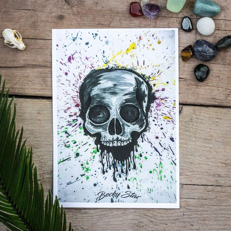art artist ink prints skull tattoo