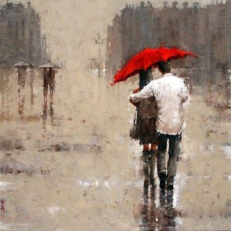 love rain painting picture art interior