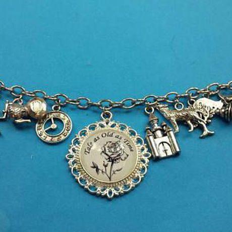 charm and fandom tale beauty time old bracelet jewelry the beast