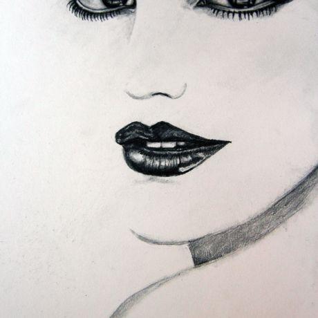 art portrait pencil painting