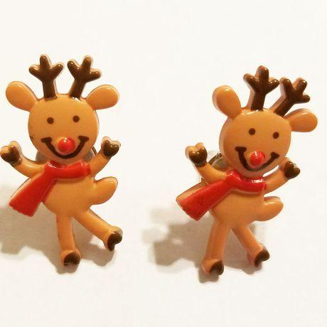 winter earrings jewelry kriszcreations reindeer