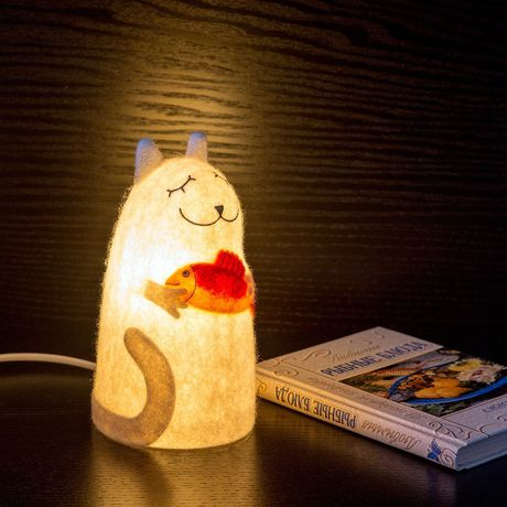fish white lamp gift customized cat red design interior