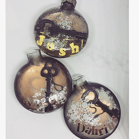 personalized gift custom steampunk christmas ornaments made