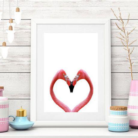 printable print modern flamingo gift art decor pink posters digital
