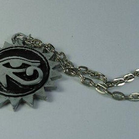 pagan pendant egyptian gothic eye medallion necklace horus all seing sun