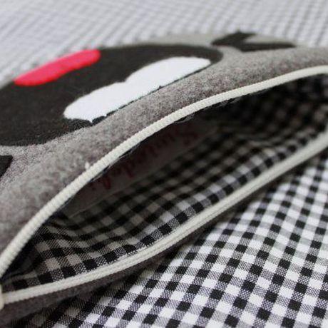 totoro purse handmade zipper fleece anime gray gift coin kawaii japanese cartoon