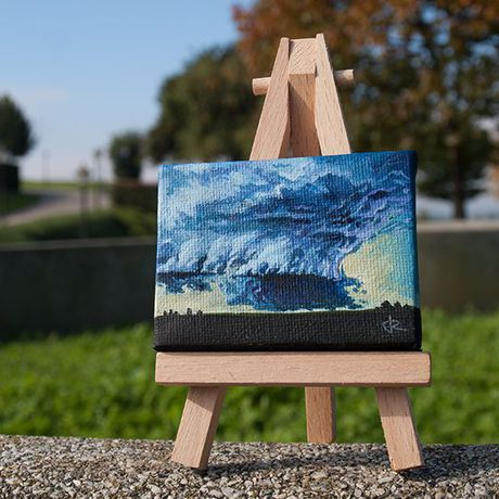oil nature storm painting