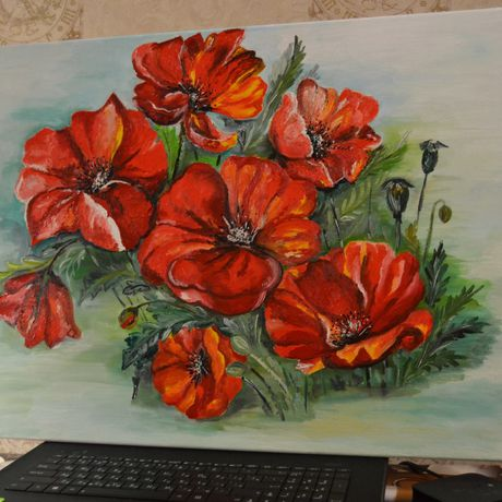 flowers painting picture art interior