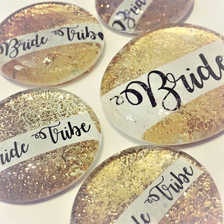gold bachelorette hen pins night tribe party bride bridal
