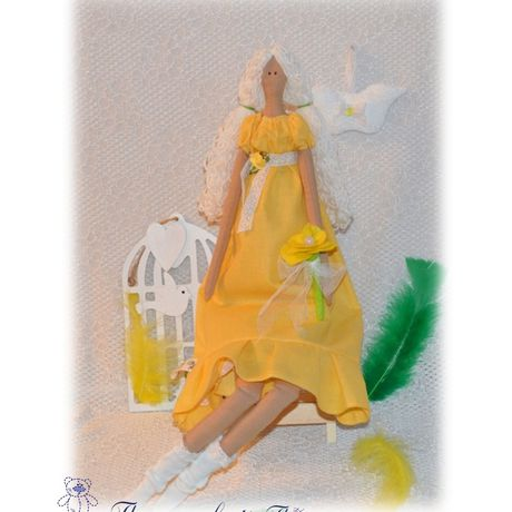 cotton doll toy yellow sunny
