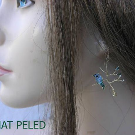 earrings gift nature unique bird branch