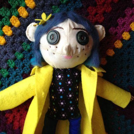 textile coraline handmade doll