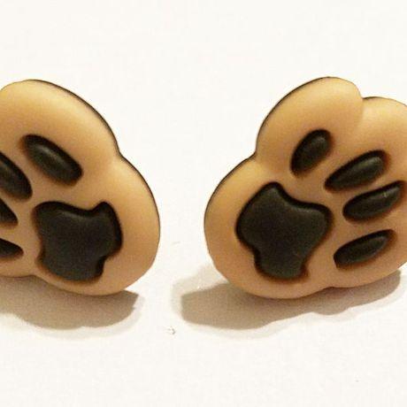 earrings unique animalpawprint jewelry kriszcreations giftsforher
